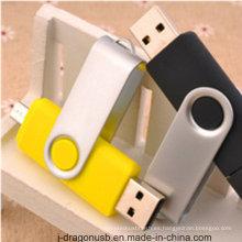 Venta al por mayor colorido giratorio OTG USB Pen Drive para Smart Phone (JV1040)
