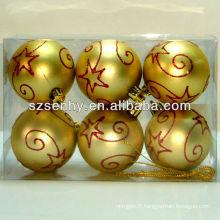 boule de neige de Noël, boule brillante de Noël