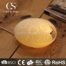 Lámpara de mesa de cerámica moderna del diente de león del arte al por mayor