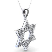 Star of David Pendant em 925 Sterling Silver Jewelry