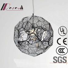 European Hotel Decorative Polygon Stainless Steel Round Pendant Lamp