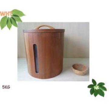 Boite circulaire à bois 5 carats 5 carats