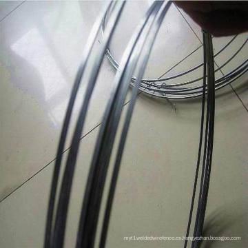 Alambre de acero plano galvanizado de alta tensión