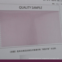 breathable cotton cupro blend fabric for suiting lining