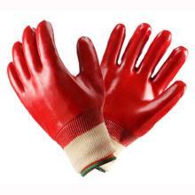 Gants de travail en PVC rouge à main