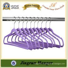 Designer Purple Plastic Velvet Hanger pour T-Shirt
