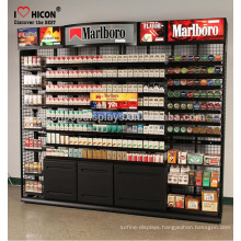 Customer Satisfied Cigarette Display With Pusher Retail Custom Design Metal Wire Mesh E-Cigar Display Racks And Stands