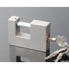 Rectangular Iron Padlock with Cross Keys/ Nickel Finishing