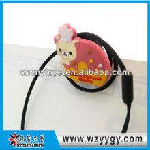 Modificado para requisitos particulares lindo suave pvc promocional earbud devanadera del cable del