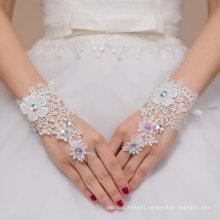 Finger Glove Crystal Lace Bride Wedding Glove