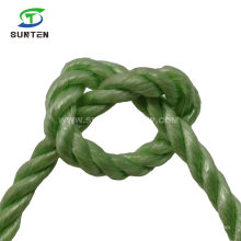 3 Strand Twisted/Twist Navy Green PP/Polypropylene Splitfilm/Split Film Rope for Agriculture Packing