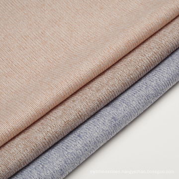 Hacci Knit Fabric Melange Yarn Polyester Rayon Fabric
