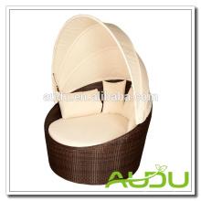 Audu Rattan Outdoor Daybed - модульный коричневый ротанга с подушками