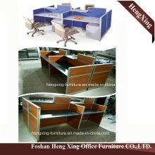 Hx-0803 Modern Design 4 Seats Workstation L Shape Office Table