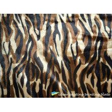 Fashion Tiger Strip Printed Pattern velvet fabric