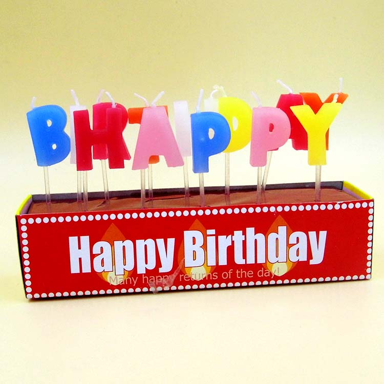 Love Birthday Letter Candles