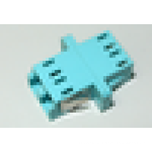LC / UPC para LC / UPC 10G OM3 duplex tipo SC com flange adaptador de fibra óptica de plástico, 0.1dB IL