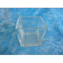 Square Glass Jar Candle Holder