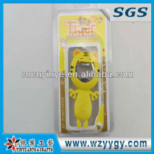 Fashion cute tiger PVC bottle opener for promotion