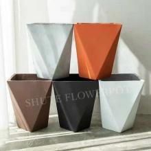 Nordic style simple design magnesia cement flower pot