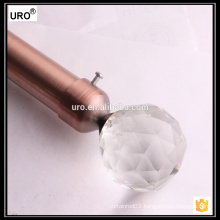 19mm&28mm plating crystal curtain rods for window