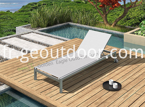 Aluminium Textilene beach chair