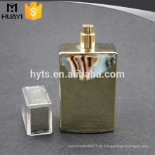 100ml Gold UV-Lack Parfüm-Flasche mit Pumpe und Kappe