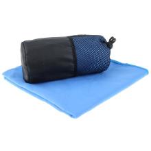 ultra alta bolsa absorbente de secado rápido de malla de microfibra gamuzada deportes gimnasio toalla de golf con percha