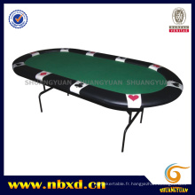 Table de poker adaptée avec jambe de fer (SY-T07)