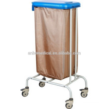epoxy powder coated soilded trolley to hold bag for collection and transportation