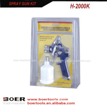 Kit de pistola de pulverização Mini HVLP embalagem dupla bolha H2000