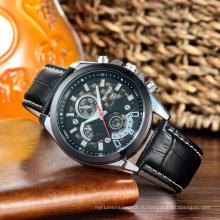 Мода Многофункциональный мужские часы с 3eyes Толкатели