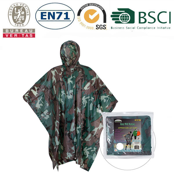different pattern rain poncho