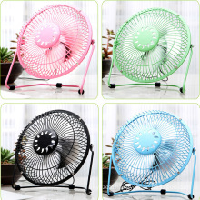 6'' Metal Rechargable Air Fan USB Cooler Cooling Desk Mini Fan Portable Super Mute PC USB Notebook Laptop Computer Cooler