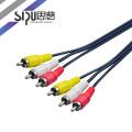 SIPU haute qualité 3RCA à 3RCA 5 broches av câble micro usb
