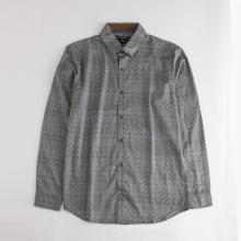 Мужская рубашка высокого качества с коротким рукавом и принтом из хлопка