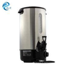 Bouilloire électrique d'acier inoxydable de couleur facultative de la vente 8-35 litres, chaudière d'urne d'eau chaude pour le commercial