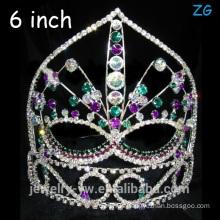 Custom Made Tiara Colored Rhinestone Crystal Crown Tiara