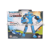 Azul y negro robot de construcción de bloques de construcción