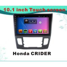 Reproductor de DVD del coche de la navegación del GPS del sistema androide para la pantalla de Capacitance de Honda Crider 10.1inch con MP3 / MP4 / TV / WiFi / Bluetooth / USB