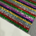 Regenbogen 3mm Pailletten Mesh Stickerei Stoff