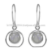 2017 O mais novo em linha por atacado Rainbow Gemstone Silver Jewelry Earring