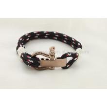Simple y más popular pulsera ajustable de acero inoxidable U grillete hecho a mano brazalete