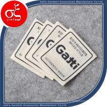 Prix d'usine étiquette d'impression de logo de marque de toile pour l'étiquette de vêtements