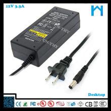 Adaptateur secteur ktec 12v 3.33a adaptateur secteur 40w UL CE FCC GS SAA C-tick