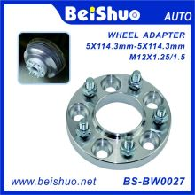 5X114.3mm PCD Wheel Wheel Spacer Адаптер с болтами и гайками