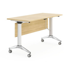 Metal Frame Folding Training Table with Removable Casters