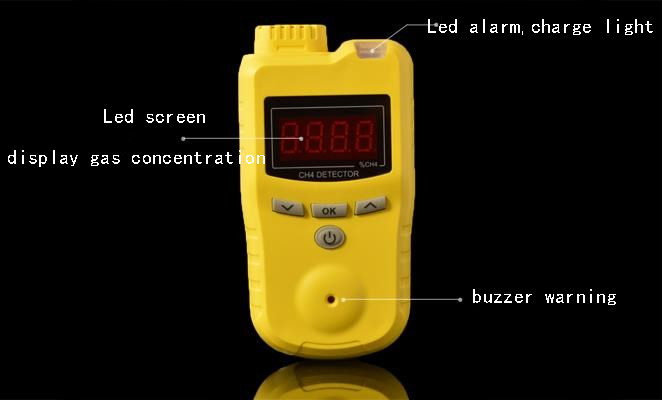 Electrochemical gas detector CD4 Gas Detector Electrochemical Gas Detector