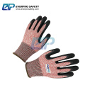 Nitrile Sandy With HPPE Cut 5 Resistant Anting Cutting And Anti Oil Work Glove