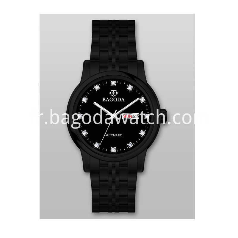 Black dial watches